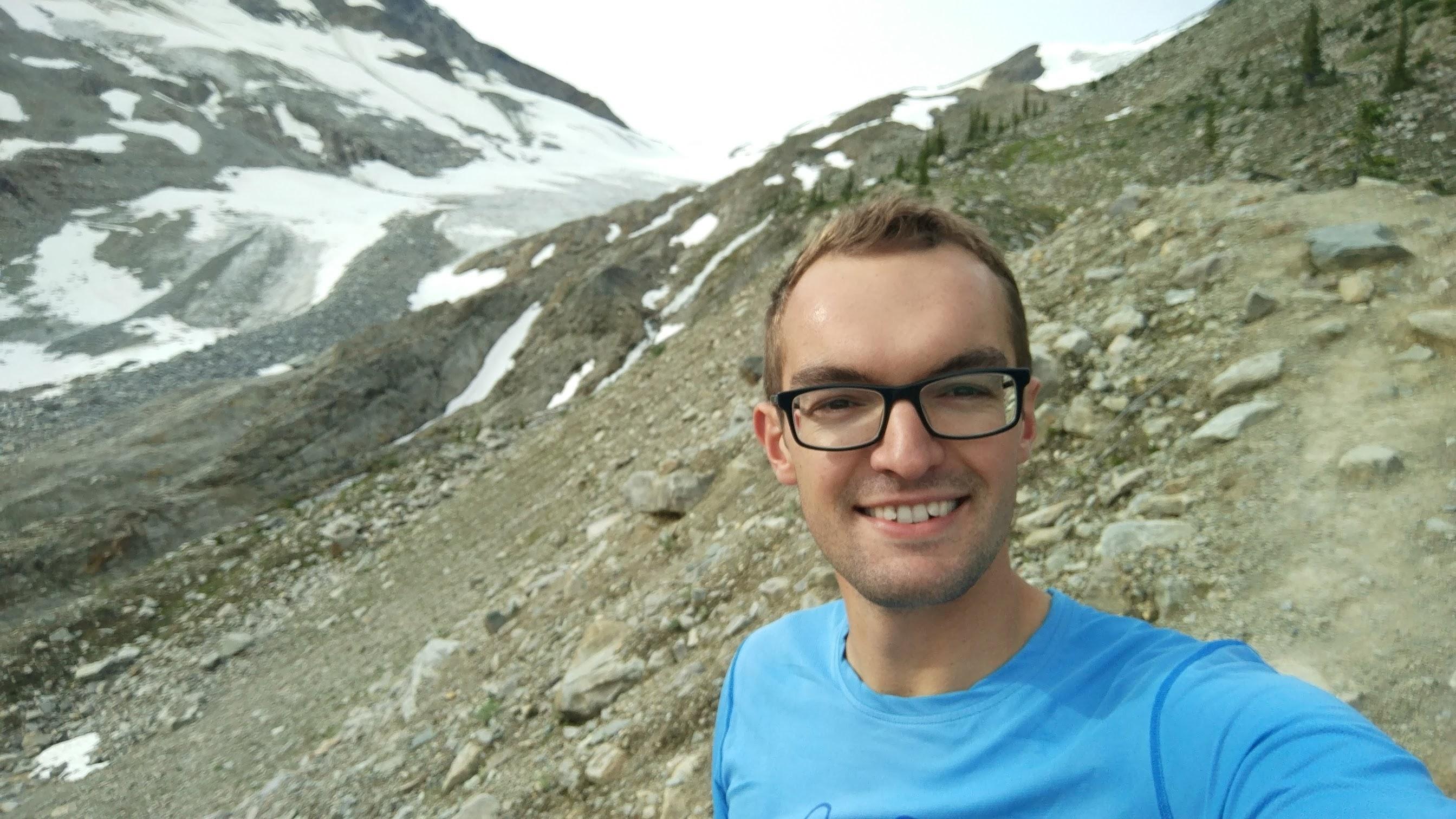 Rob having some mountainous running fun