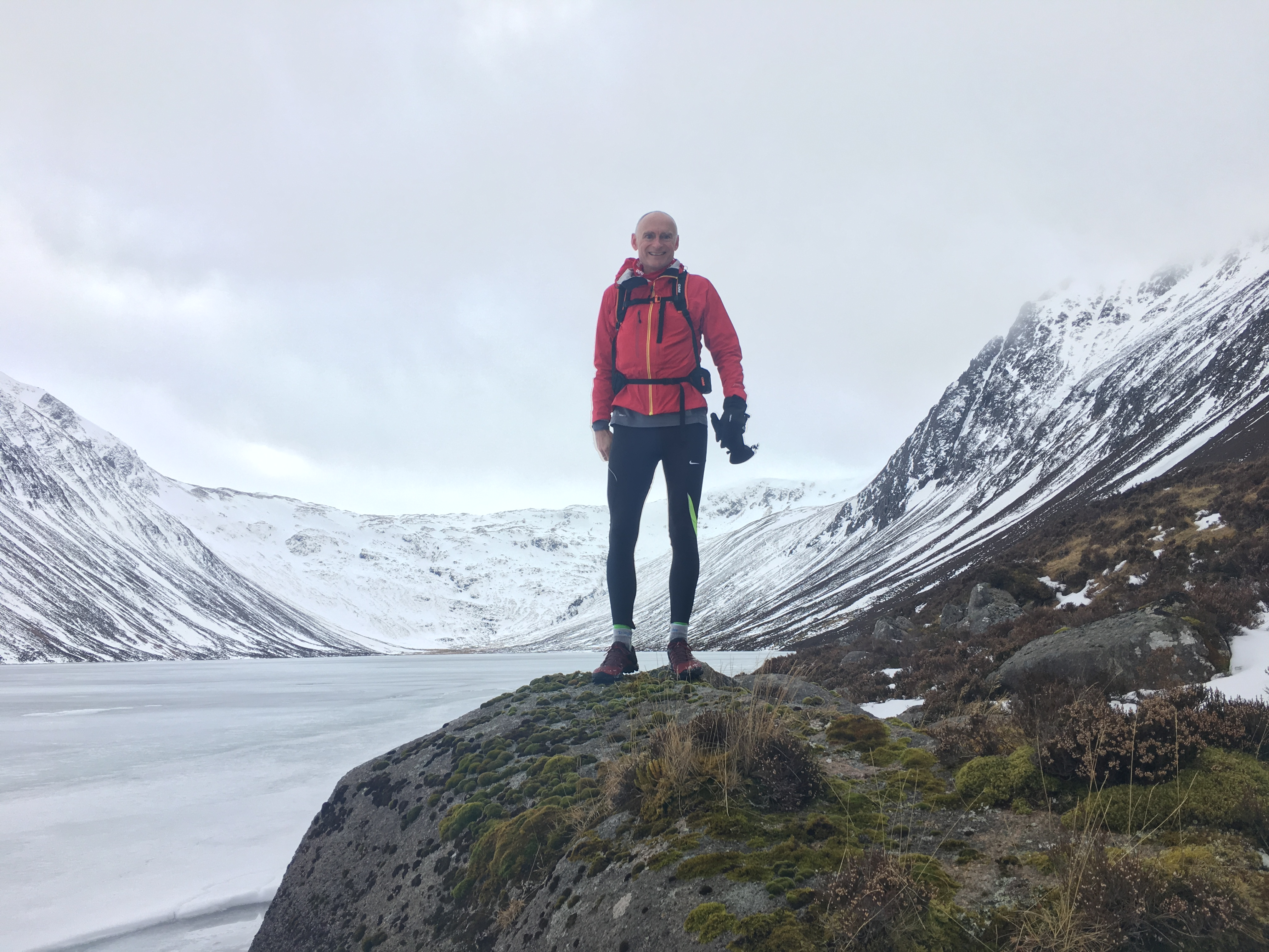 Sparkie running in the Scottish mountains 2018